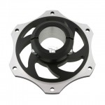 ALUMINIUM SPROCKET CARRIER FOR 40MM AXLE BLACK ANODIZED